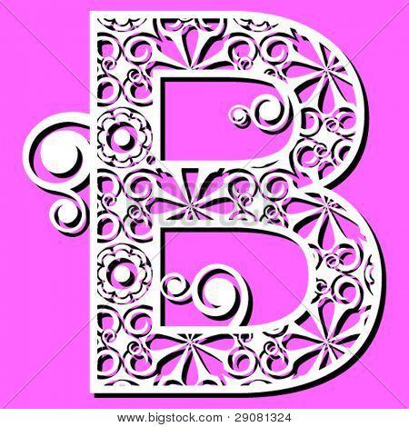 openwork alphabet, letter B