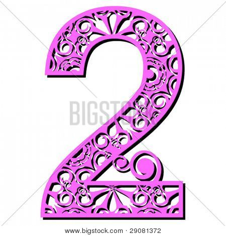 openwork numerals, number two
