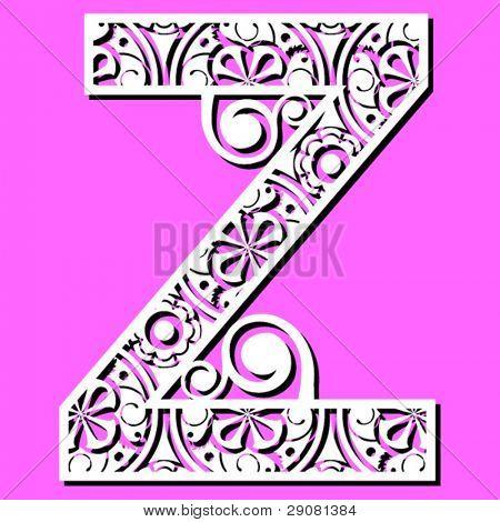 openwork alphabet, letter Z