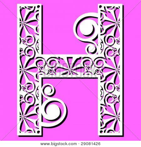 openwork alphabet, letter H