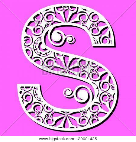 openwork alphabet, letter S