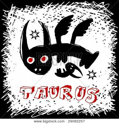 hand drawn sign of the zodiac taurus