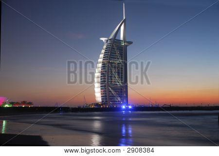 Burj Al Arab, Landmark At Sunset