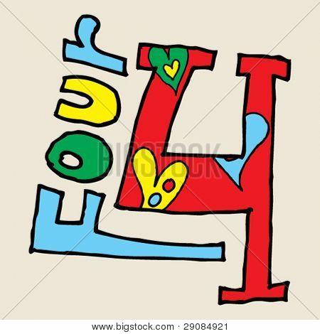 Vectores y fotos en stock de números de graffiti infantil, doodle ...