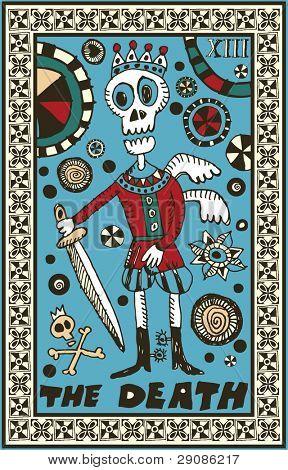 hand drawn tarot deck, major arcana, the raster version, the death