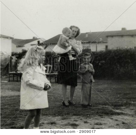 Vintage 1934 Photo of a Family