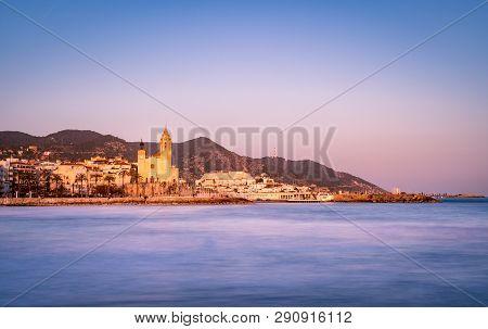 Blue Hour View Of Mediterranean