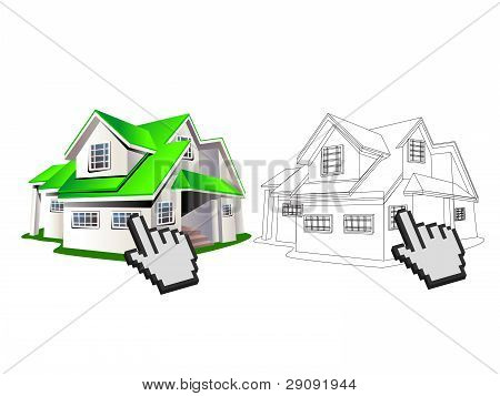 House And Wireframe