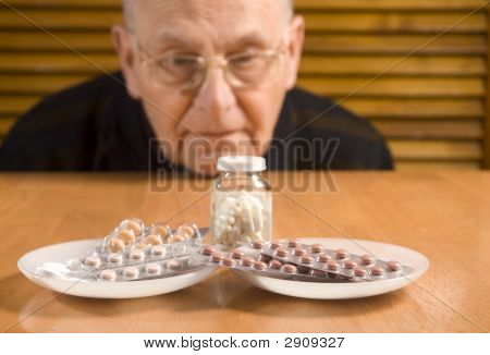 Senior Man And His Pills