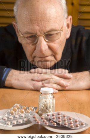 Senior Man And His Pills