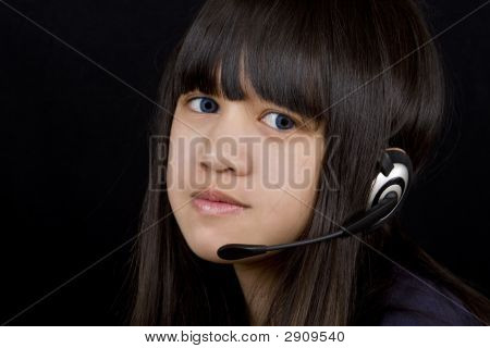 Teenager With Headset
