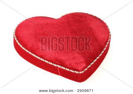 Velvet Heart Shaped Box