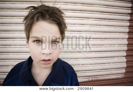 Boy Staring Blankly