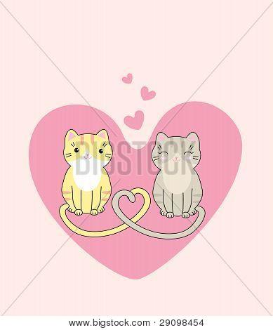 Cute cats in love