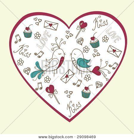 Valentine's day love postcard