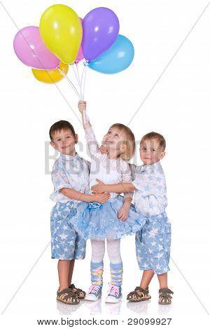 Celebración azul y blanca