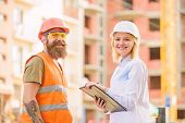 Successful Deal Concept. Purchase Of Building Materials. Construction Industry. Foreman Established  poster