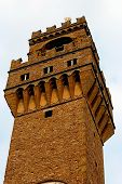 Bell Tower In Piazza Signoria poster