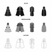 Vector Illustration Of Material And Clothing Icon. Collection Of Material And Garment Vector Icon Fo poster