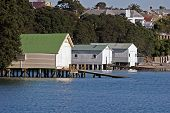 picture of herne bay beach  - boat sheds in herne bay auckland - JPG