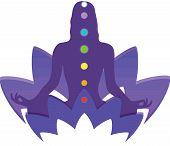 Healing Chakras Mindfulness Spiritual Meditation Mantra Illustration poster