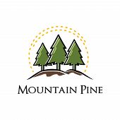 Mountain Evergreen Pine Tree Nature Logo Template poster