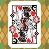 hand drawn deck of cards, doodle jack of hearts