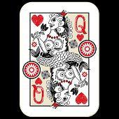 stock photo of hand drawn  - hand drawn deck of cards - JPG