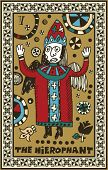hand drawn tarot deck, major arcana, the hierophant