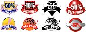 Collection Of Eight High Detailed Brand New Icons With Sales And Retail Information poster