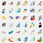 Development Icons Set. Isometric Style Of 36 Development Vector Icons For Web For Any Design poster
