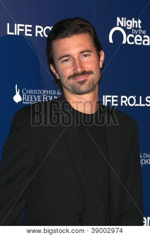 LOS ANGELES - NOV 11:  Brandon Jenner arrives at the Life Rolls On Foundation's 9th Annual Night By The Ocean at The Ritz-Carlton on November 11, 2012 in Marina del Rey, CA