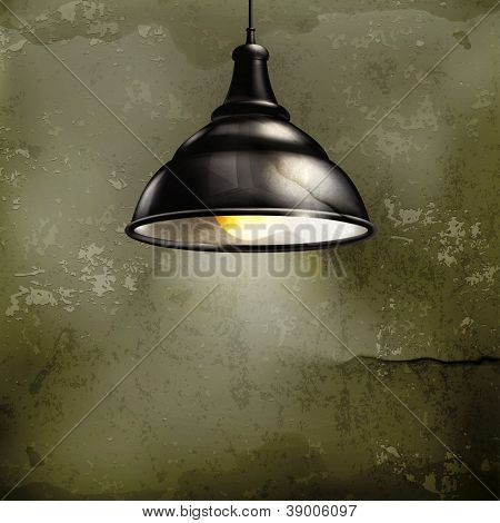 Black Lamp, old-style vector
