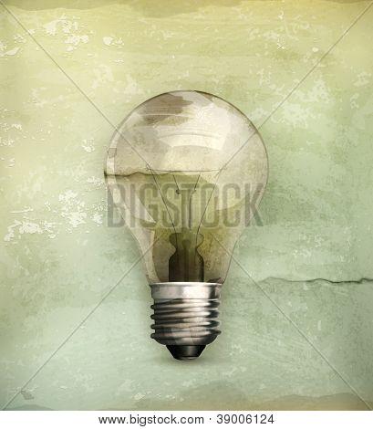 Lightbulb, old-style vector