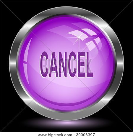 Cancel. Internet button. Raster illustration.