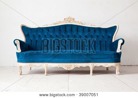 Blue vintage classical style Sofa bed