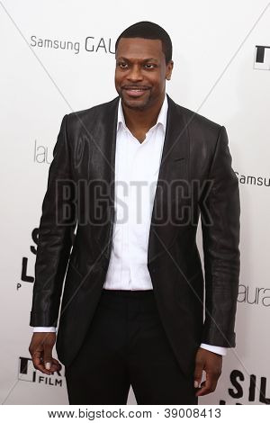 "NUEVA YORK-NOV 12: Actor Chris Tucker asiste a la Premier de ""Silver Linings Playbook"" en el Ziegfel"