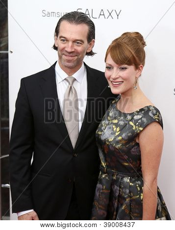 NEW YORK-NOV 12: Actress Brea Bee and guest attend the premiere of
