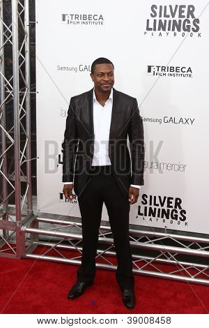 "NOVA YORK-NOV 12: Ator Chris Tucker assiste a estréia de ""Silver Linings Playbook"" na Ziegfel"
