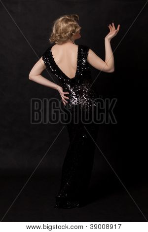 Portrait Of Drag Queen. View From The Back