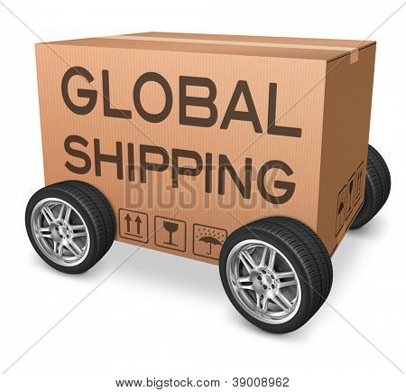 global shipping importation and exportation logistics international trade web shop order transportation icon