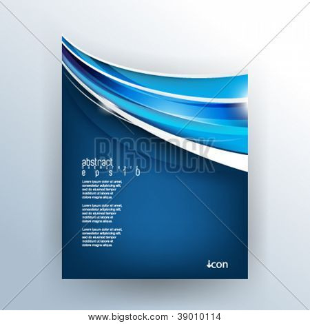 eps10 vector die-cut corporate background