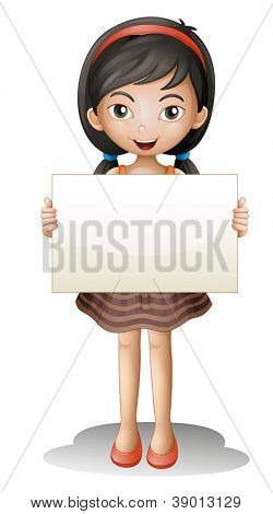 illustration of a girl on a white background