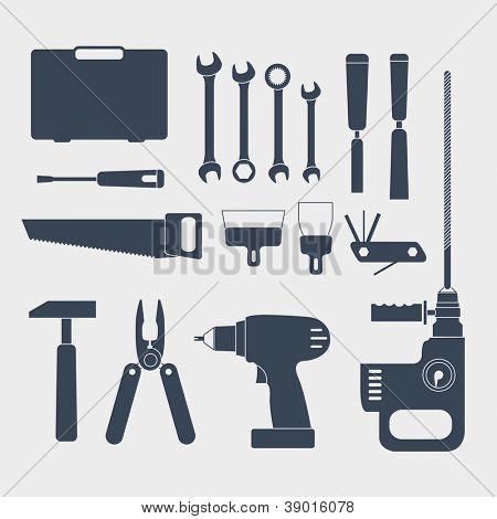 Electric and handy tool silhouettes