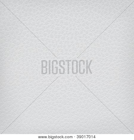 Vector White leather texture background.