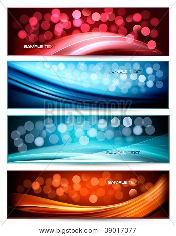 Set of abstract holiday colorful banners. Vector illustration