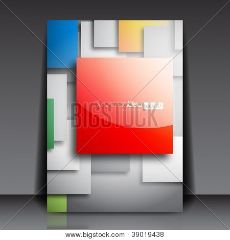Colorful Square Blank Flyer Template - Vector Design Concept