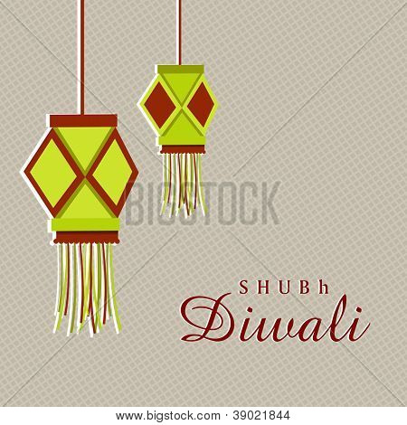 Hanging lantern or lamp for Diwali celebration in India. EPS 10.