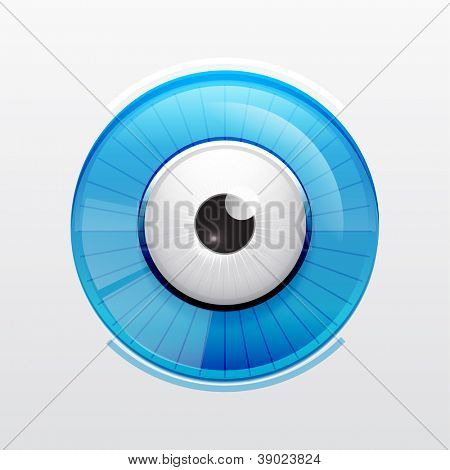 Vector color eye design. Hi-tech concept