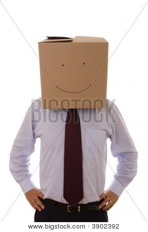 Cardboard Businessman
